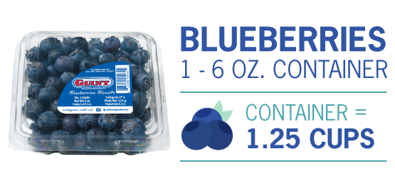 blueberry measurements