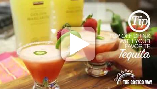 Quick and Easy Strawberry Jalapeno Margarita thumbnail